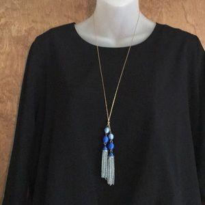 Jewelry - Gorgeous tassel necklace with gold colored chain